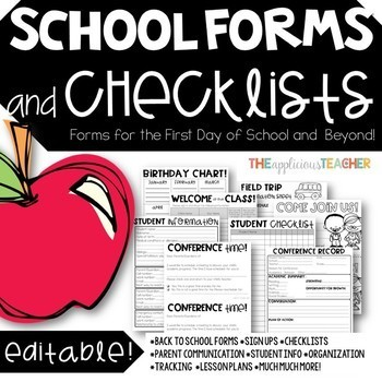 Back To School Forms Are Posted