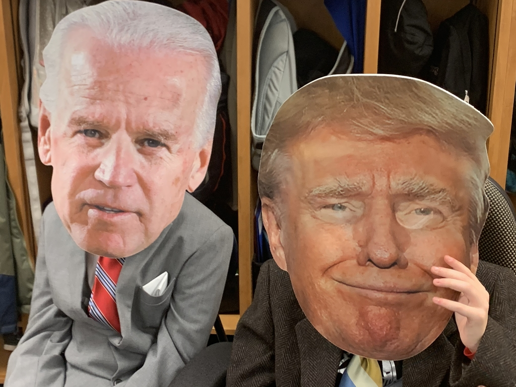 Candidates Biden and Trump made an appearance at each lesson.