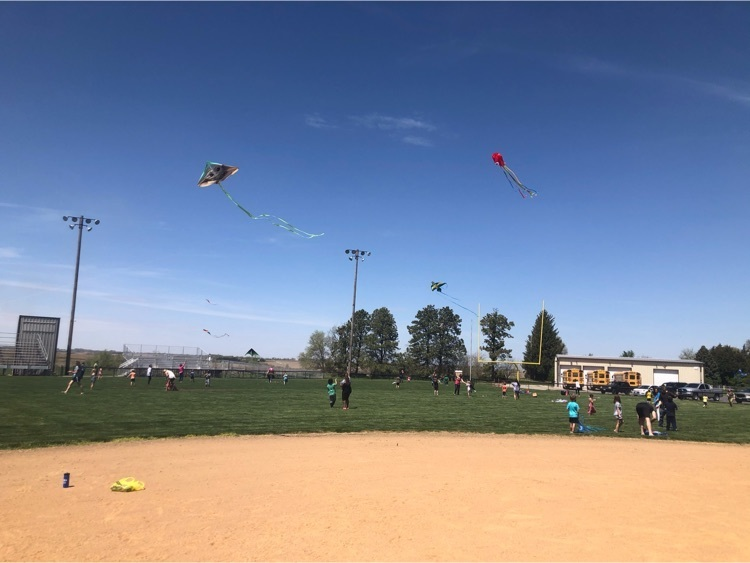 Flying High Kite Day in 1st grade Many became quite the experts !