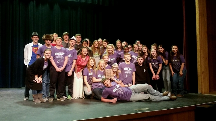 "Cast and crew of ""Godspell"""